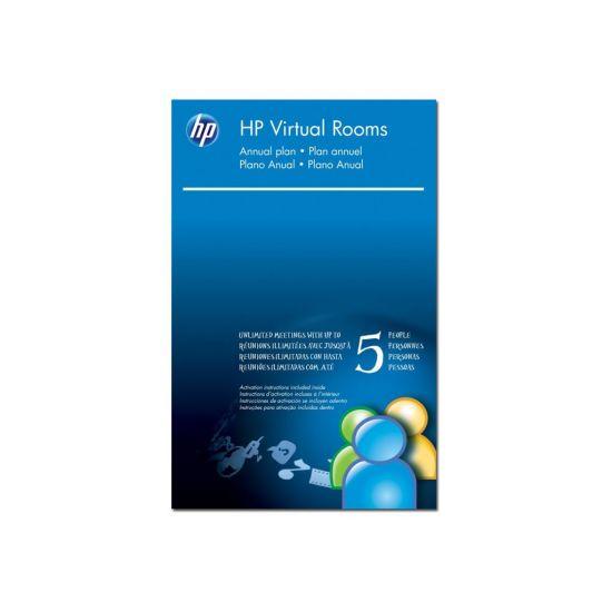 HP Virtual Rooms - licens (1 år) - vært med op til 5 deltagere