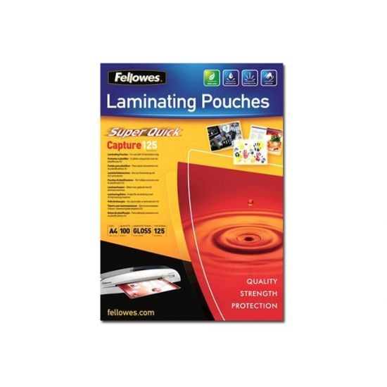Fellowes Laminating Pouches SuperQuick Capture 125 micron - 100-pakke - blank - A4 - laminerings poser