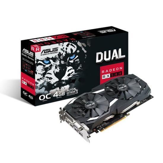 ASUS DUAL-RX580-O4G &#45 AMD Radeon RX580 &#45 4GB GDDR5 - PCI Express 3.0 x16