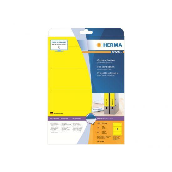 HERMA Special - uigennemsigtige mappemærkater - 80 etikette(r) - 192 x 61 mm