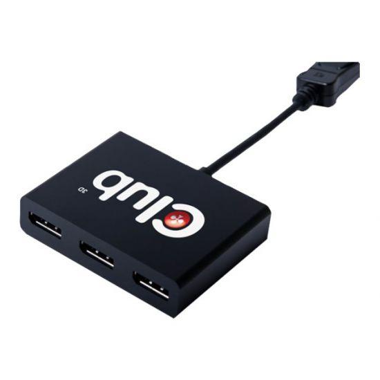 Club 3D Multi Stream Transport (MST) Hub DisplayPort 1-3 - videosplitter - 3 porte