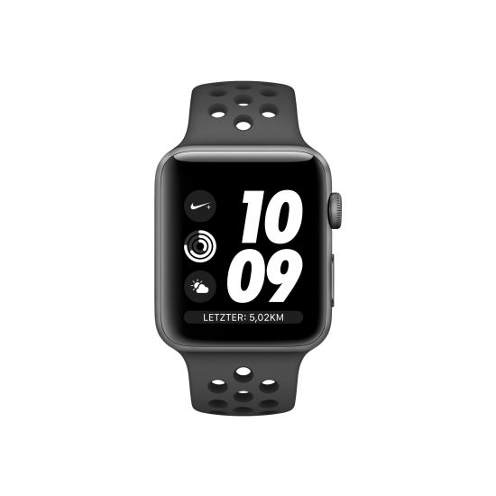 Apple Watch Nike+ Series 3 (GPS) - rumgråt aluminium - smart ur med Nike-sportsbånd - antracit/sort - 8 GB