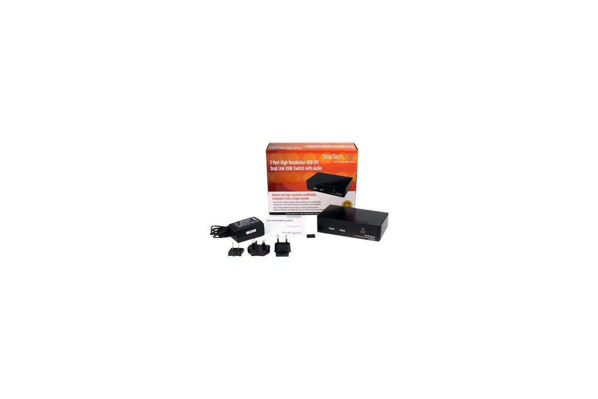 StarTech.com 2 Port High Resolution USB DVI Dual Link KVM Switch with Audio