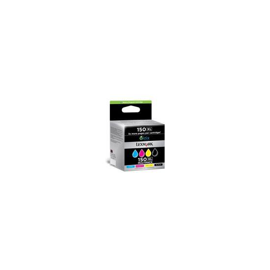 Lexmark Cartridge No. 150XL - 4 pakker - Højtydende - sort, gul, cyan, magenta - original - blækpatron - LCCP, LRP