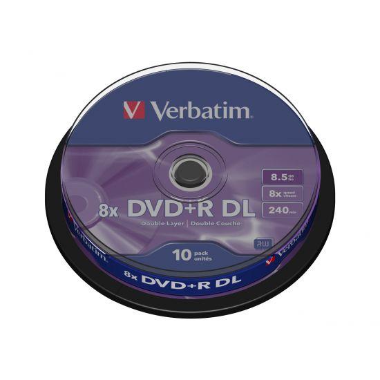 Verbatim - DVD+R DL x 10 - 8.5 GB - lagringsmedie