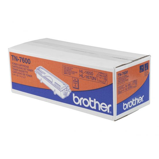 Brother TN7600 - sort - original - tonerpatron