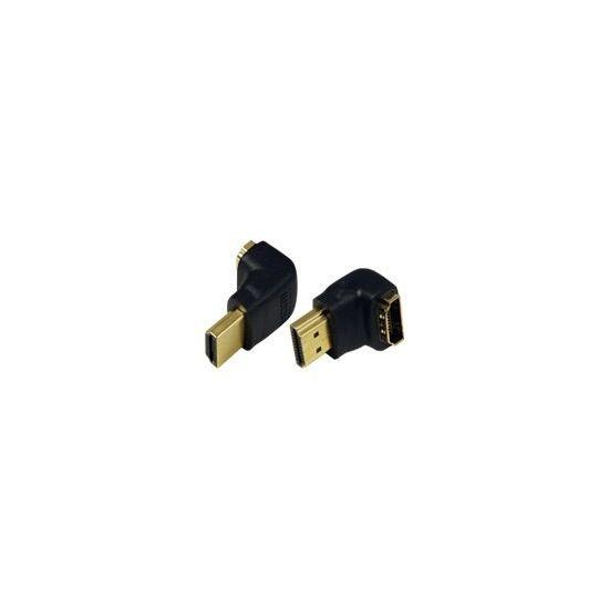 LogiLink HDMI højrevinklet adapter