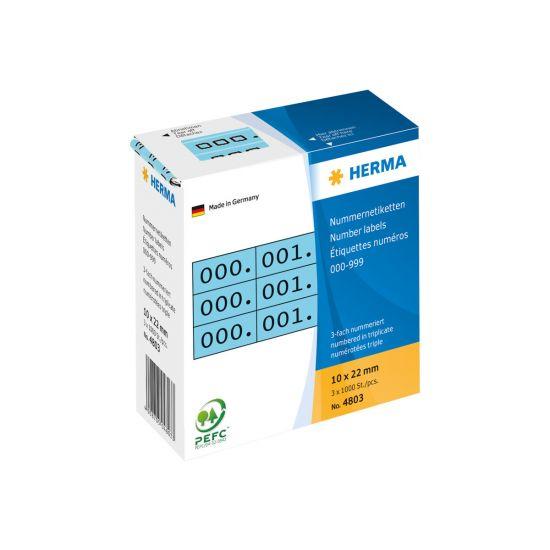 HERMA - selvklæbende nummermærkater - 3000 etikette(r)