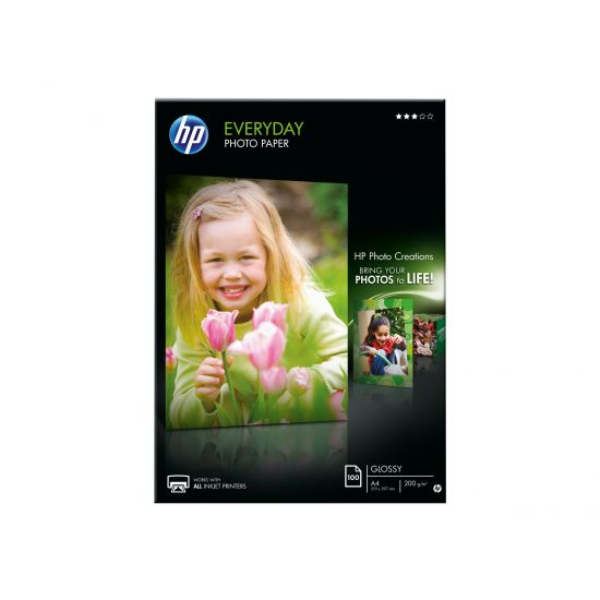HP Everyday Photo Paper - fotopapir - 100 ark - A4 - 200 g/m²