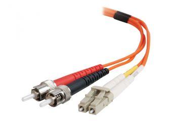 C2G LC-ST 50/125 OM2 Duplex Multimode PVC Fiber Optic Cable (LSZH)