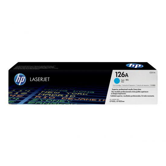 HP 126A - cyan - original - LaserJet - tonerpatron (CE311A)