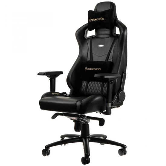 Noble Chairs EPIC Series Real Leather Black