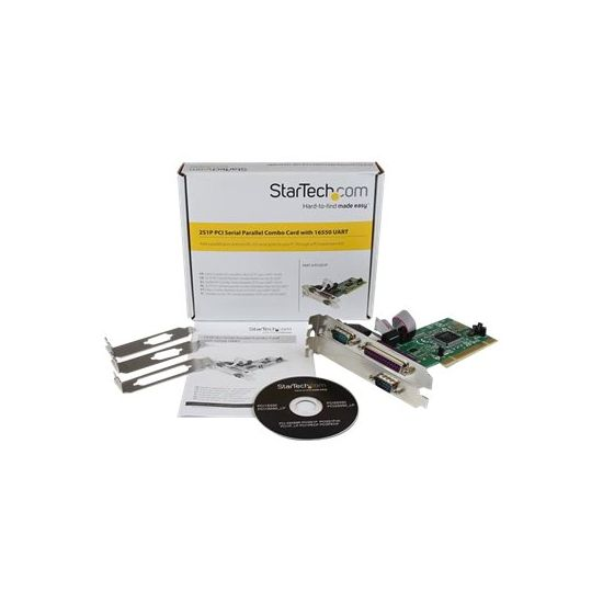 StarTech.com 2S1P PCI Serial Parallel Combo Card with 16550 UART - parallel/seriel adapter - 3 porte