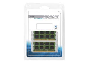 Crucial &#45 4GB: 2x2GB &#45 DDR3 &#45 1333MHz &#45 SO DIMM 204-PIN