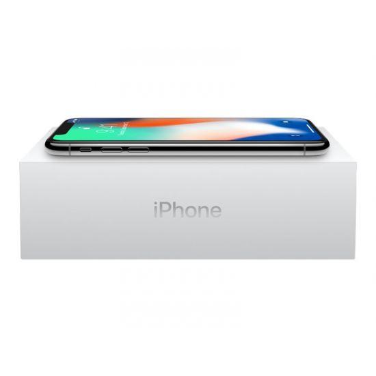 Apple iPhone X - sølv - 4G LTE, LTE Advanced - 256 GB - GSM - smartphone