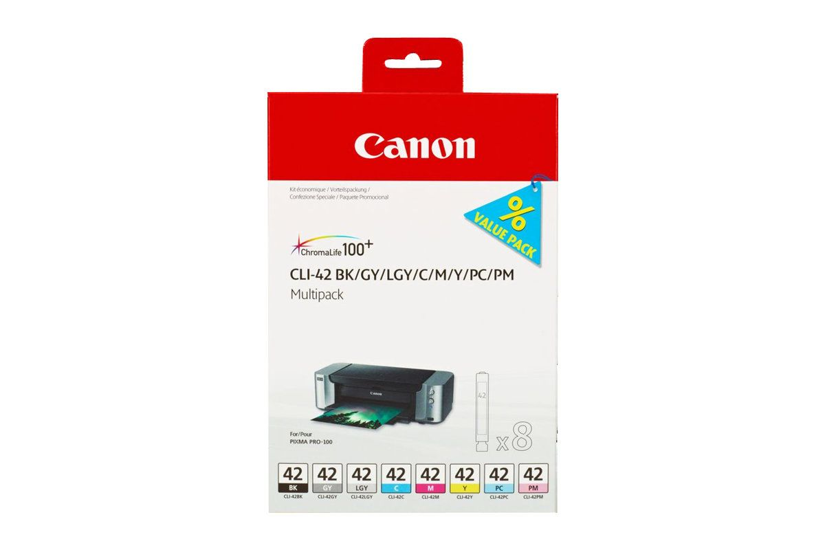Canon CLI-42 BK/GY/LG/C/M/Y/PC/PM Multipack