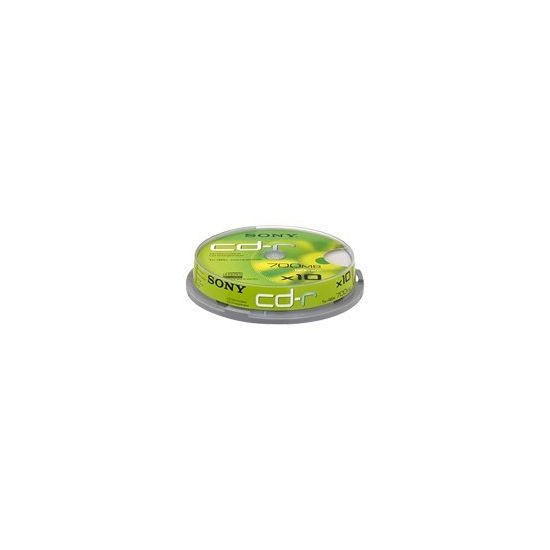 Sony CDQ-80SP - CD-R x 10 - 700 MB - lagringsmedie