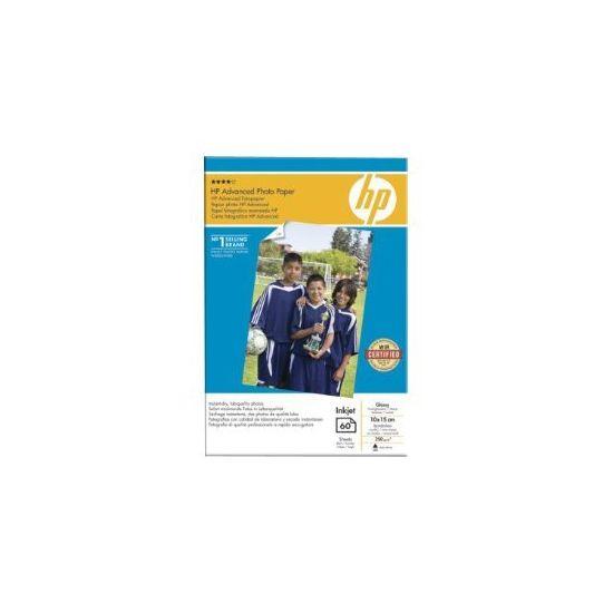 HP Advanced Glossy Photo Paper - fotopapir - 60 ark - 100 x 150 mm - 250 g/m²