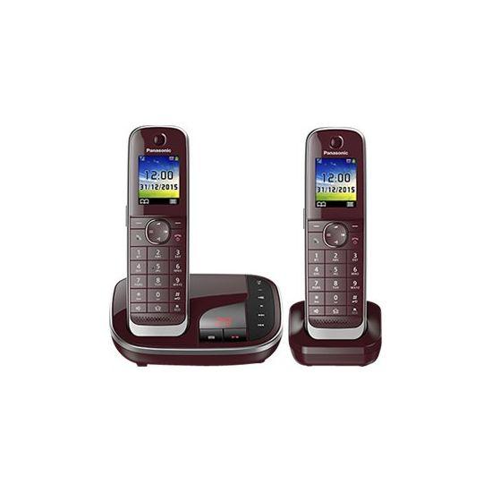Panasonic KX-TGJ322GR - trådløs telefon - besvarelsessystem med opkalds-ID + ekstra telefonrør