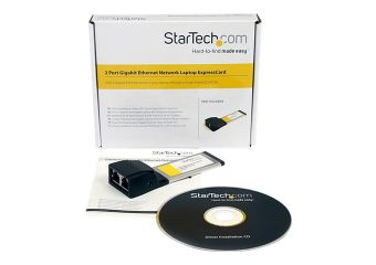 StarTech.com Dual Port ExpressCard Gigabit Laptop Ethernet NIC Network Adapter Card