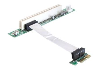 DeLOCK Riser card PCI Express x1 > PCI 32Bit 5 V with flexible cable