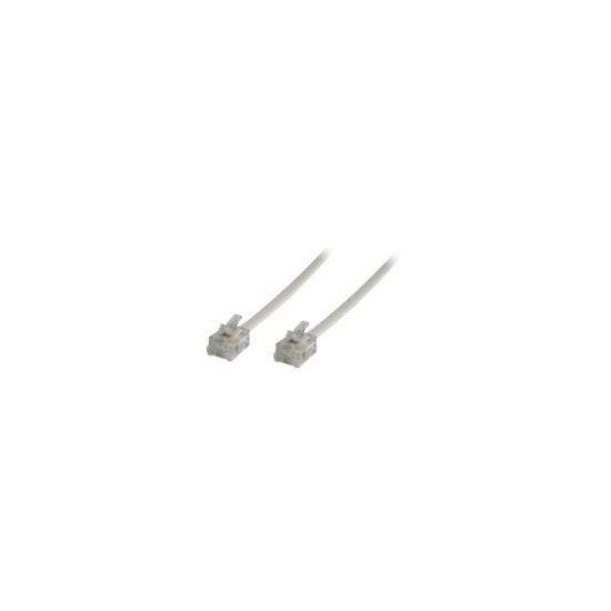 MicroConnect Modular Straight - telefonkabel - 5 m - hvid