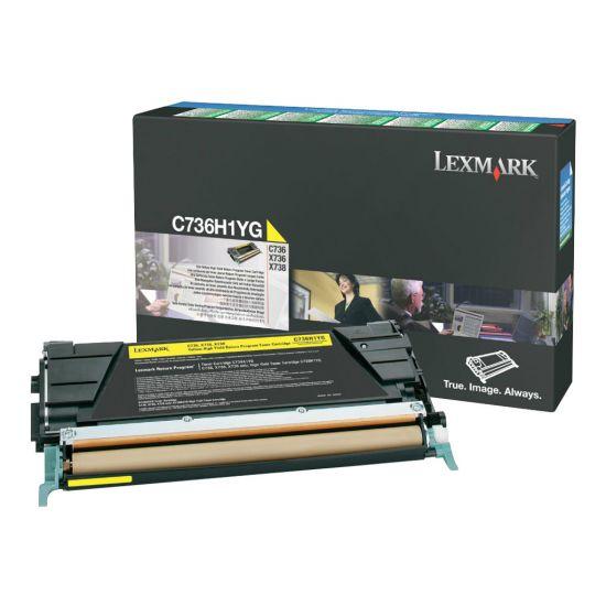 Lexmark - Højtydende - gul - original - tonerpatron - LCCP, LRP