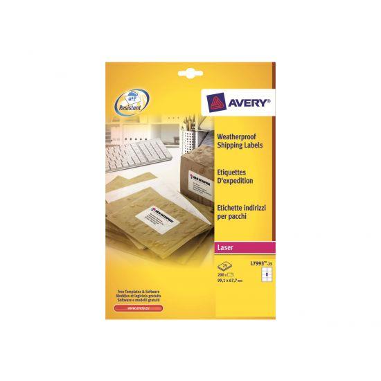 Avery Zweckform L7993 - shipping etiketter - 200 etikette(r) - 67.7 x 99.1 mm