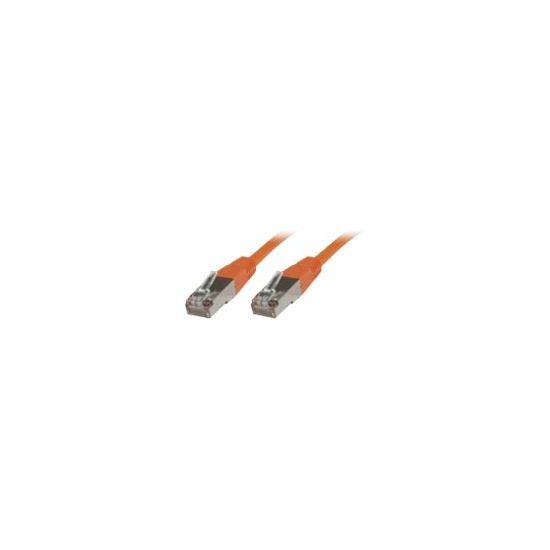 MicroConnect netværkskabel - 20cm - orange