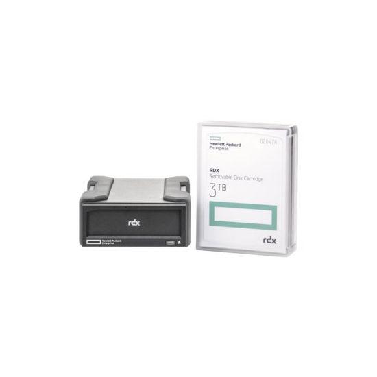 HPE RDX Removable Disk Backup System - RDX drev - SuperSpeed USB 3.0 - ekstern - med 3 TB kassette