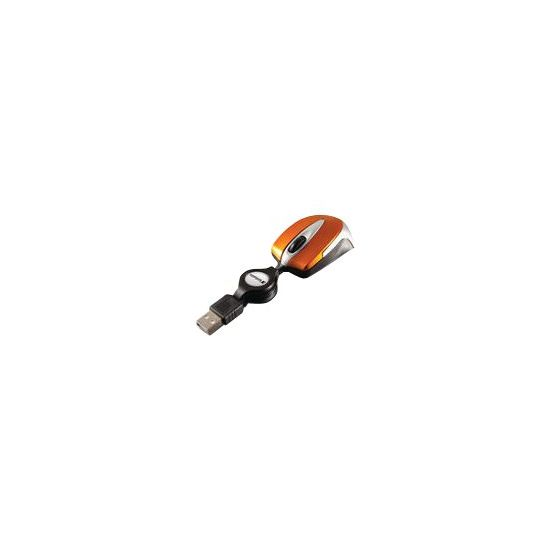 Verbatim Go Mini Optical Travel Mouse - mus - USB - vulkansk orange