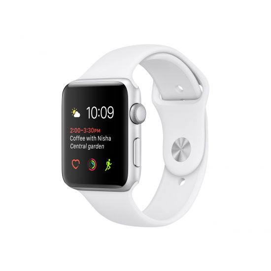Apple Watch Series 1 - sølvaluminium - smart ur med sportsbånd - hvid