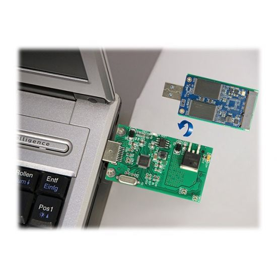 DeLOCK - lagringskontrol - mSATA - USB 3.0