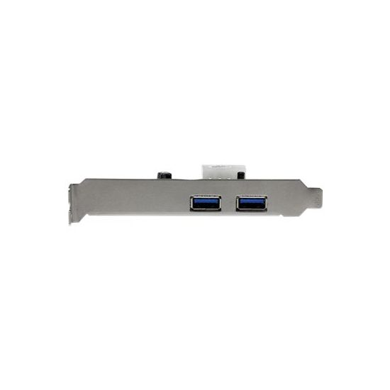 StarTech.com 2 Port PCI Express (PCIe) USB 3.0 Card with UASP - LP4 Power - USB-adapter