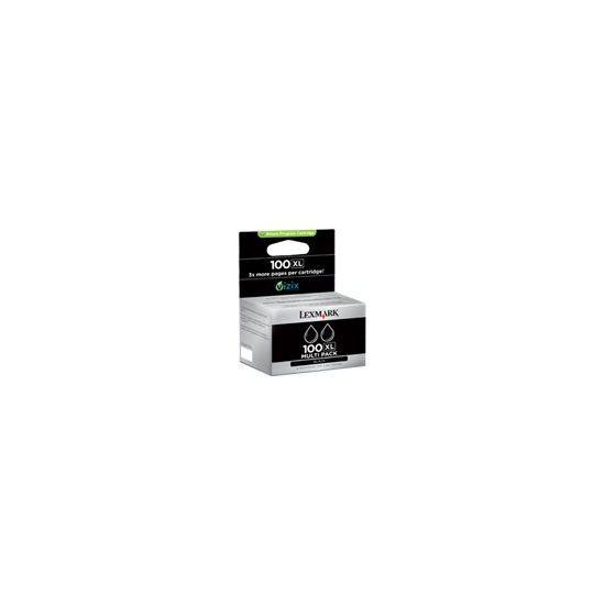 Lexmark Cartridge No. 100XL - 2 pakker - Højtydende - sort - original - blækpatron - LCCP, LRP