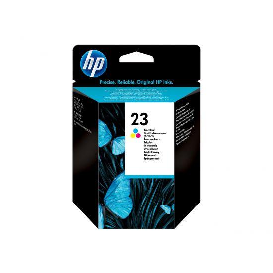 HP 23 - farvebaseret tricolor - original - blækpatron