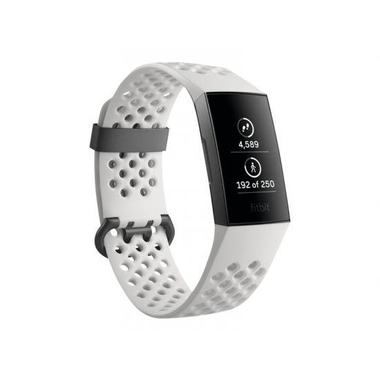 Fitbit Charge 3 Special Edition - graphite - aktivitetssporer med sportsbånd - white frost