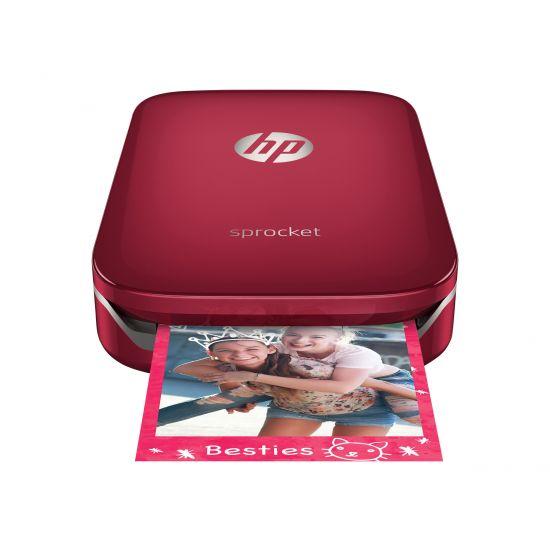 HP Sprocket Photo - printer - farve - zink - med HP ZINK Sticky-Backed Photo Paper (10-sheets)