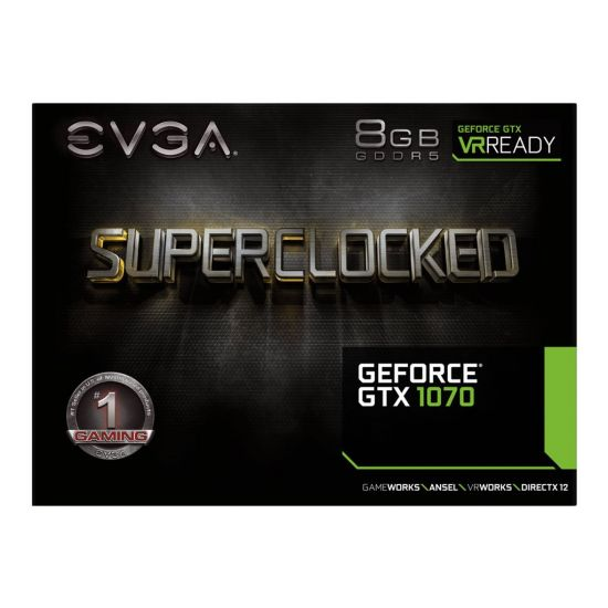 EVGA GeForce GTX 1070 SC GAMING ACX 3.0 Black Edition &#45 NVIDIA GTX1070 &#45 8GB GDDR5 - PCI Express 3.0 x16