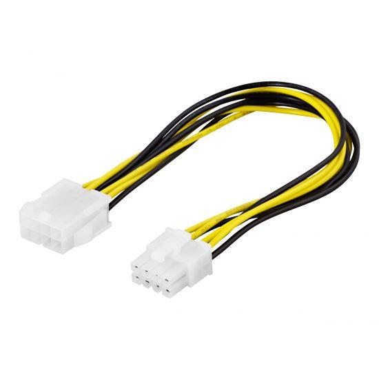 DELTACO strømforsyningsadapter - 25 cm