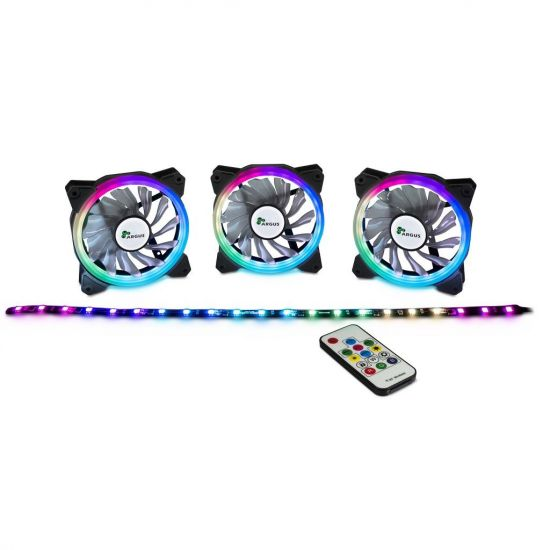 Inter-Tech Argus RS03 SET 3x120mm RGB-FAN + LED-strip