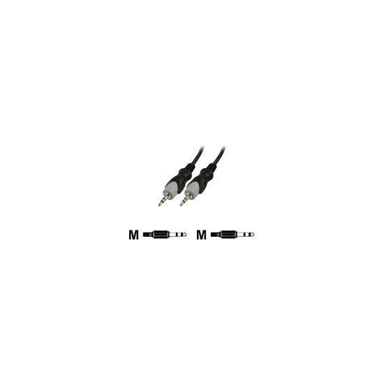 Deltaco audiokabel 3,5mm jack til 3,5mm jack - 3 m