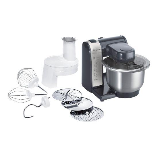 Bosch MUM 4 MUM48A1 - køkkenmaskine - 600 W - anthracit/sølv