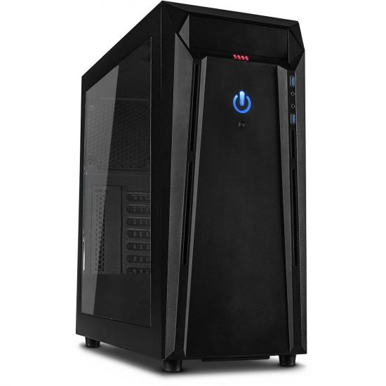 Føniks Intel i7/GTX1050Ti Gamer Computer - Intel i7 8700 - 8GB DDR4 - Nvidia GTX 1050Ti 4GB - 240GB SSD - 1TB HDD - Uden Windows