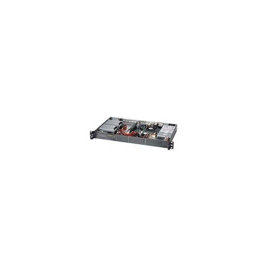 Supermicro SC504 203B - rackversion - 1U - mini ITX