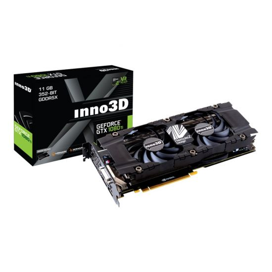 Inno3D GeForce GTX 1080 Ti X2 &#45 NVIDIA GTX1080Ti &#45 11GB GDDR5X - PCI Express 3.0 x16