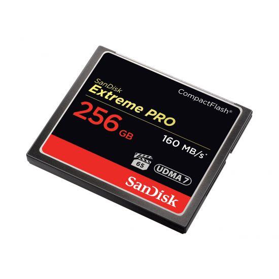 SanDisk Extreme Pro - flashhukommelseskort - 256 GB - CompactFlash