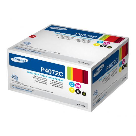 Samsung CLT-P4072C Rainbow kit - 4 pakker - sort, gul, cyan, magenta - original - tonerpatron
