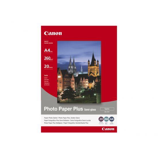 Canon Photo Paper Plus SG-201 - fotopapir - 20 ark - A3 - 260 g/m²