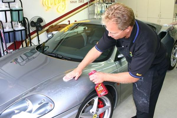 car scratch repair prepping